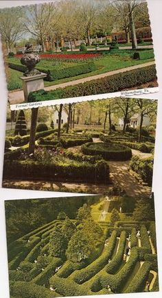 Williamsburg Virginia, The Formal Gardens, Governor's Palace