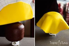a tutorial for making your own carved lego head fondant covered cake for any lego themed celebration. personalize the expression of your lego head with edible markers Lego Head Cake, Cake Board, Cake Cover, Super Glue, Cake Tutorial, Birthday Cakes, Real Food Recipes, Create