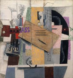 Pablo Picasso : Le violon (Titre attribué : nature morte), 1914. Huile sur toile, 81 cm x 75. Succession Picasso 2015 / Photo Centre Pompidou : MNAM-Cci,dist; Rmn-Grand Palais / droits réservés.