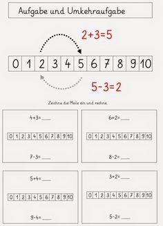 einige Kinder haben sich mit Umkehraufgaben und   den Aufgabenfamilien bereits beschäftigt   und ohne Schwierigkeiten mathematische Zusamme...