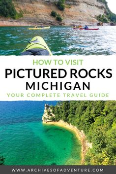 Looking for amazing things to do in Michigan, USA? It's one of the best states to visit in the United States! If you want to see one of this state's most beautiful sights, here's how to visit Pictured Rocks Michigan, in the Upper Peninsula. Traverse City Michigan, Michigan City Indiana, Muskegon Michigan, Lake Michigan, Michigan Usa, Wisconsin, Best States To Visit, Cool Places To Visit, Places To Travel