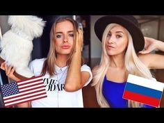 Russian VS American Fashion by YouTuber Evelina.
