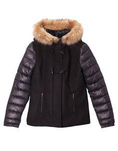 Duffle-coat court combiné