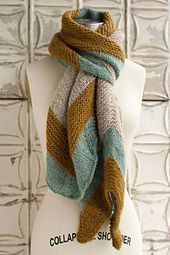 Ravelry: Blue Bell Hill Scarf pattern by Jocelyn Tunney. Love the design and color scheme!!