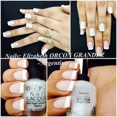 French manicure  Opi Sally Hansen