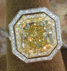 9ct Fancy Yellow Diamond -- Cool shape!!! Would love a cocktail ring in this shape (maybe morganite, another rose colored stone, sapphire or emerald)