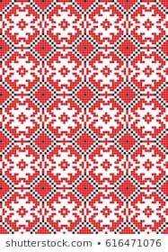 Scandinavian Seamless Pattern Stock Vector (Royalty Free) 90694426 With, Folk Art, Scandinavian, Royalty, Cross Stitch, Traditional, Embroidery, Pattern, Free