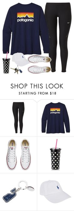 """""""Untitled #197"""" by mayaxvi ❤ liked on Polyvore featuring NIKE, Patagonia, Converse, Kate Spade, Avon and Polo Ralph Lauren"""