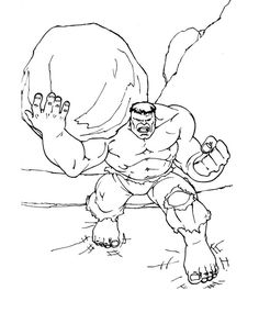 incredible hulk color pages - Avengers Hulk Coloring Pages
