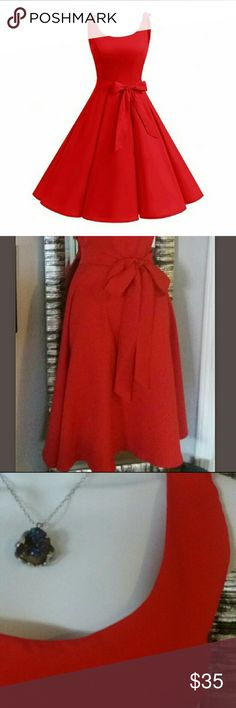 Perfect for upcoming holiday functions Gorgeous Red dress, A-line, Skater, Belted, Size 10, New with Tags 20% off 3+ items Dresses Midi