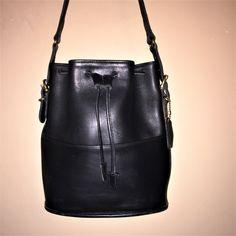 cfa3790b7 COACH VINTAGE Black Thompson Drawstring Bucket Bag 11 x 10.25 x 3.25 W/Hang  Tag 9804 USA