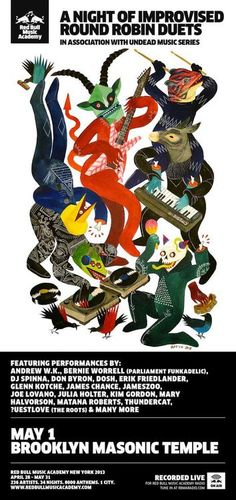 """""""rosamour:  James Chance Official James will be appearing on May 1 at the Red Bull Academy at the Masonic Temple in Brooklyn with an all star lineup! http://jameschanceofficial.blogspot.com/2013/03/james-chance-andrew-wk-uestlove-kim.html  """""""