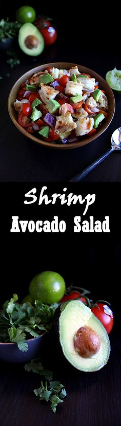 Shrimp Avocado Salad - This easy recipe is five ingredients, under 400 calories, and packs 34 grams of protein! Paleo and Whole 30 compliant!