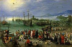 Harbor Scene with St. Paul's Departure from Caesarea, Jan Brueghel the Elder
