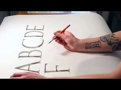 HOW TO WRITE ROMAN CAPITALS CALLIGRAPHY ALPHABET WITH NICOLO VISIOLI PART 1 - YouTube