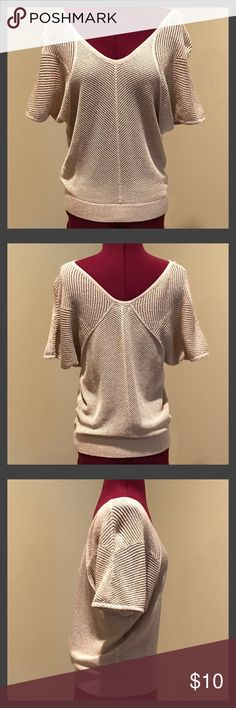 Express Dolman Sleeve Sweater Express Dolman Sleeve Sweater.  The color is a light tan/cream with some sparkle.  This sweater is in good condition. Size small. Express Sweaters