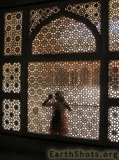 Tomb of Salim Chishti in the ancient Mughal capital of Fatehpur Sikri. #travel #India