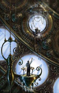 Steampunk Tendencies | Art by Derek  #Illustration #Clockwork #Steampunk