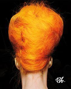 Fall/Winter Fashion Week. Hair by Bb. Stylist James Pecis. #orange #hair
