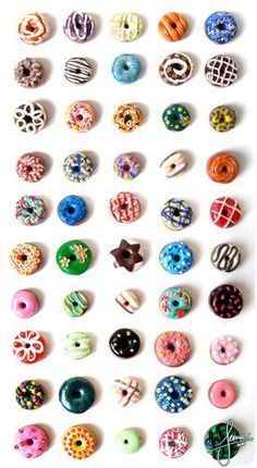 Colorful Donuts - by ~SweetDeco on deviantART. For some reason I love making min. Colorful Donuts – by ~SweetDeco on deviantART. For some reason I love making min… – Donuts Cute Polymer Clay, Cute Clay, Polymer Clay Miniatures, Fimo Clay, Polymer Clay Projects, Polymer Clay Charms, Polymer Clay Creations, Polymer Clay Jewelry, Clay Crafts