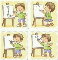 images séquentielles OK Sequencing Pictures, Sequencing Cards, Story Sequencing, Sequencing Activities, Speech Therapy Activities, Activities For Kids, Primary School, Pre School, 4 Image