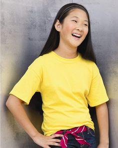 Plain Basic Cheap Discount Blank Wholesale Boys Youth Kids Child Short Sleeve Tee Shirt T-Shirt In Bulk