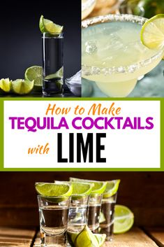 Do you love the flavour of lime in your cocktail recipes? One of the best types of alcohol to mix with lime is tequila so check out these tequila cocktails with lime as well as more easy and tasty tequila cocktails to expand your range of drinks to enjoy! Citrus Recipes, Fruit Recipes, Drink Recipes, Delicious Recipes, Refreshing Cocktails, Easy Cocktails, Tequila Recipe, Tequila Tequila, Tequila Sunrise