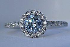 <3<3  Takara blue diamond in the Timeless Halo ring by Takara Diamonds