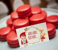 Do you say Macaron or Macaroon? either way, they are totally delicious! Perfect as part of this Red Riding Hood Theme.