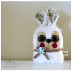 $15 Miniature Rabbit White by Wickandbandit on Handmade Australia