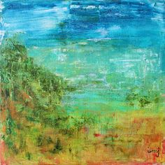 Kreativ varje dag: 150711 nr 243Tutti frutti Akryl på duk, 20x20 cm...