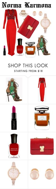 """""""Norma Karmona"""" by normacarmona on Polyvore featuring moda, Dsquared2, Balmain, Smashbox, By Terry, Deborah Lippmann, Valentino, River Island y Kenneth Jay Lane"""
