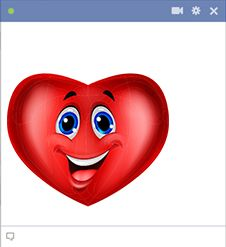 Heart smiley face
