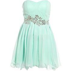 light blue short dress with sparkle sash