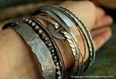 GYPSY bangle stack bracelets from SMASHED by ChristinesCabinet, $64.00