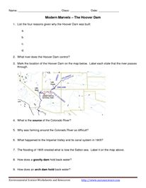 Modern Marvels - Hoover Dam Worksheet