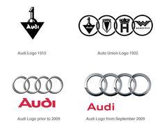 Famous Logo Design History: Audi | Logo Design Gallery Inspiration | LogoMix