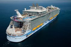the Royal Caribbean's Harmony of the Seas set sail on her maiden voyage. At ft long, ft wide and GRT, she is the is the largest passenger ship in the world, surpassing her older sisters Oasis of the Seas and Allure of the Seas. Ton Cruise, Best Cruise, Cruise Travel, Cruise Vacation, Italy Vacation, Freedom Of The Seas, Harmony Of The Seas, Royal Caribbean International, Royal Caribbean Ships