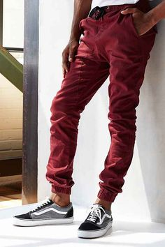 ZANEROBE Sureshot Burgundy Jogger Pant - Urban Outfitters