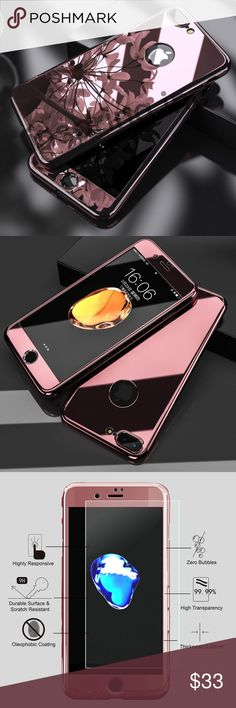 Cute rose gold iPhone 7 or 7 plus case Ships within 7-9 days. Available for both 7 & 7 plus models. King Accessories Phone Cases