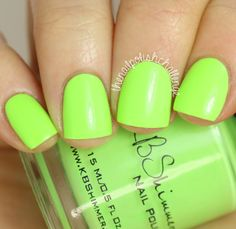 KBShimmer Summer 2015 Collection  For Sail By Owner is a pale neon green creme. I'm not usually a huge fan of greens, but colors like this are so gorgeous! It's a perfect lime green and I think it'll be great for nail art. Shown above is two easy coats with top coat.