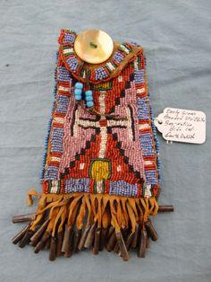 Early Soiux Beaded Strike-A-Lite Bag   favorite bead work   Pinterest