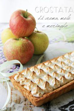 Letizia in Cucina: Crostata di crema, mele e meringa