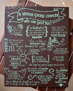 Proverbs 31 Painted Canvas by graceelliott10 on Etsy