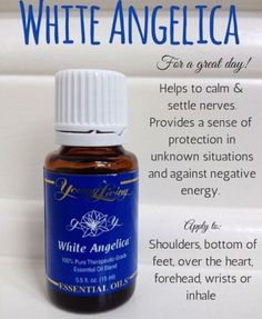 Feeling negative vibes around you? Use White Angelica on your shoulders to chase them away. This oil has a light, airy, comforting scent. This is part of my daily routine.