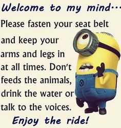 "Minion Quote | ""Welcome to my mind ..."""