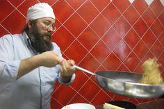 Mauro Musso, artisan pasta maker at work in Alba, Piemonte