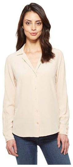 EQUIPMENT Adalyn V-Neck Button Up Solid (Nude) Women's Blouse - EQUIPMENT, Adalyn V-Neck Button Up Solid, Q23-E522-273, Apparel Top Blouse, Blouse, Top, Apparel, Clothes Clothing, Gift, - Fashion Ideas To Inspire