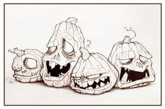 Jack O'Lanterns by Shahin for Inktober and @Sketch_Dailies