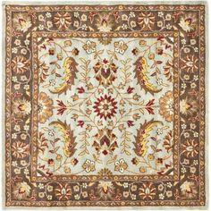 Safavieh Heritage Kent Hand-Tufted Wool Area Rug, Blue/Brown